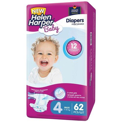 Купить Helen Harper подгузники Baby 4 (7-14 кг), 62 шт., Подгузники