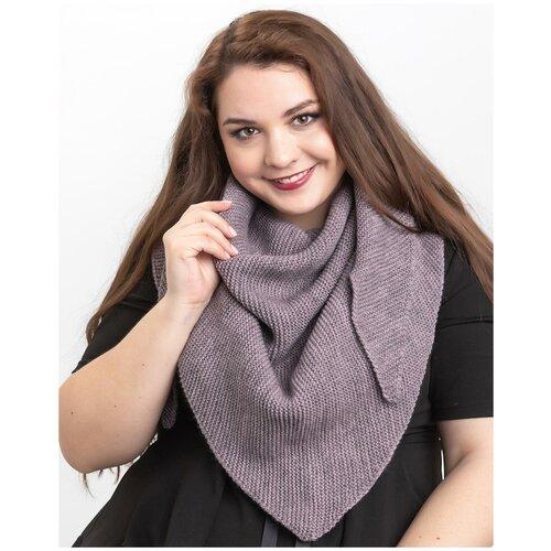 Женский теплый шарф-платок из шерсти, ТМ Reflexmaniya, RN169-Розовато-серый.
