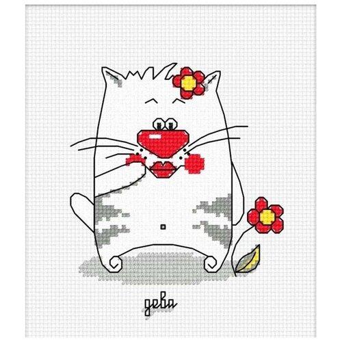 Набор для вышивания «Кошачий гороскоп. Дева», 10x12 см, Овен