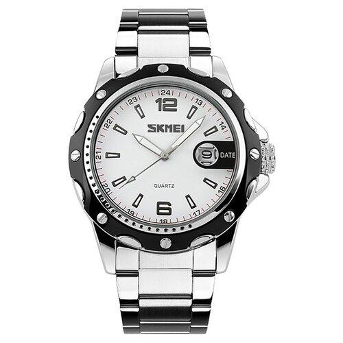 Часы мужские SKMEI 0992 Stainless Band - Белые