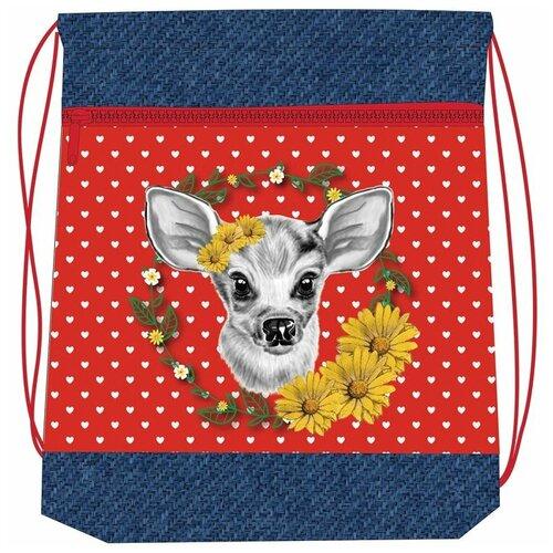 Belmil Мешок-рюкзак для обуви Daisy 336-91/011, синий/красный мешок для обуви belmil robot