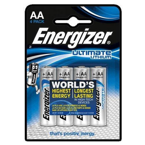 Батарейки Energizer AA Ultimate Lithium , 4 шт. батарейка energizer ultimate lithium aa 2 шт