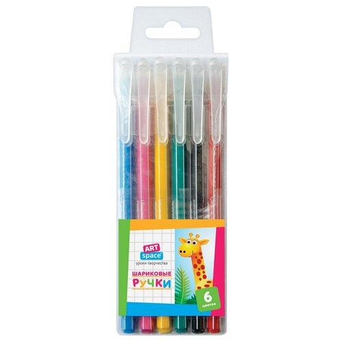 ArtSpace Набор шариковых ручек, 6 цветов, 0,7 мм (BP6_15798) artspace набор гелевых ручек совята 12 цветов 1 0 мм