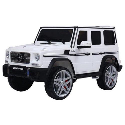 Купить RiverToys Автомобиль Mercedes-Benz G65 AMG, белый, Электромобили