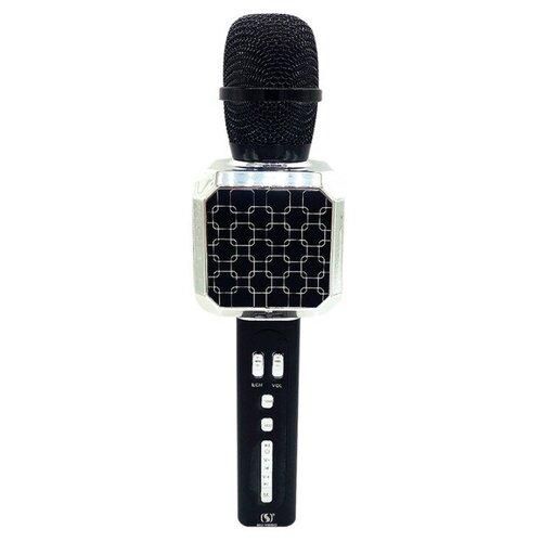 Беспроводной караоке-микрофон YS-69 (черно-серебряный)