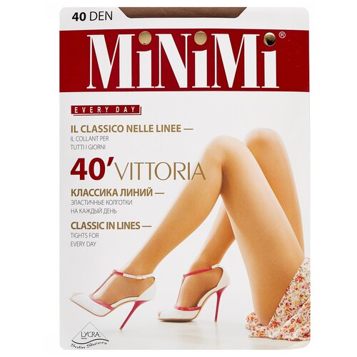 Фото - Колготки MiNiMi Vittoria, 40 den, размер 3-M, daino (бежевый) колготки minimi slim control 40 den размер 3 m daino бежевый