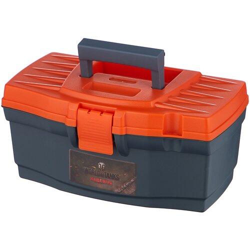 Ящик BLOCKER World of Tanks BR5009 32x18.5x15.2 см 12'' серо-свинцовый/оранжевый