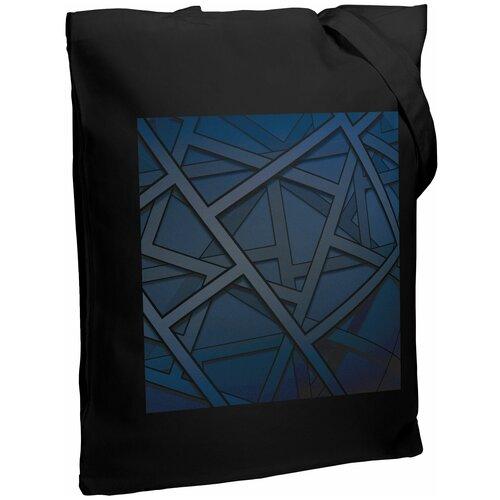 Сумка-шоппер Illusion, черная