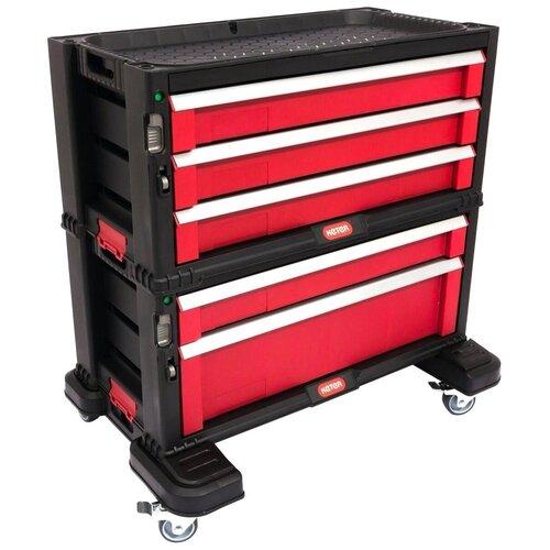 Фото - Ящик-тележка KETER 5 drawers tool chest set (17199301) 37x59x59 см черный/красный ящик keter 2 drawers tool chest 17199303 56 2x28 9x26 2 см 22 красный