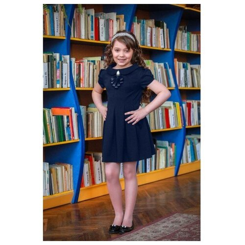 Фото - Платье Ladetto 1С5 размер 30(2)-122, темно-синий платье mayoral размер 7 122 темно синий
