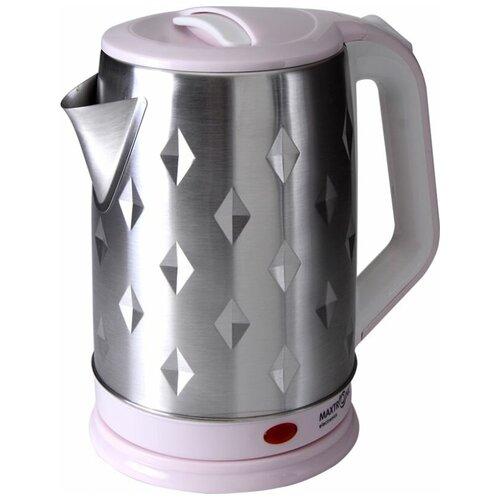 Чайник Maxtronic MAX-1008 серебристый/розовый