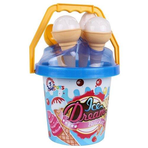 Набор для песочницы мороженое технок (ведерко для песочницы, формочки для песка, лопатка детская )