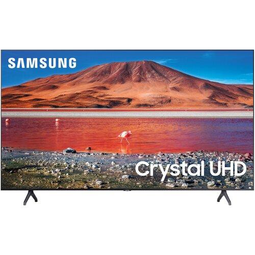 Фото - Телевизор Samsung UE55TU7100U 55 (2020), серый титан телевизор samsung ue43tu7500u 43 2020 серый титан