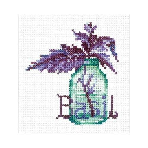 Набор для вышивания сделай своими руками П-54 Пряные травы. Базилик 9х10 см набор для вышивания сделай своими руками п 09 поварёнок