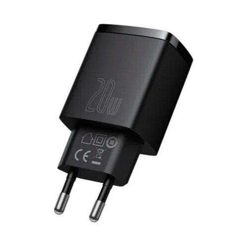 Фото - Сетевое зарядное устройство Baseus Compact Quick Charger U+C 20W EU Black зарядное устройство baseus compact quick charger u c 20w eu black ccxj b01