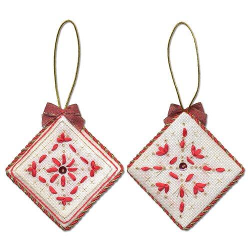 Купить Набор для вышивания PANNA IG-1273 ( ИГ-1273 ) Новогодняя игрушкаРомбик 2 шт., Наборы для вышивания