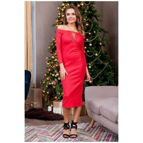 брюки ruxara ruxara mp002xw0f72l Облегающее красное платье RUXARA (7794, красный, размер: 42)