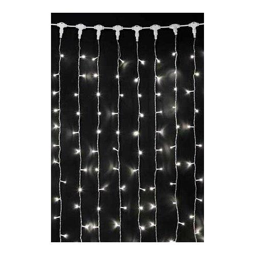 Занавес световой PLAY LIGHT мерцающий, 600 LED ламп, (480 статичных/120 мерцающих холодных белых LED ламп), 2x3 м, прозр