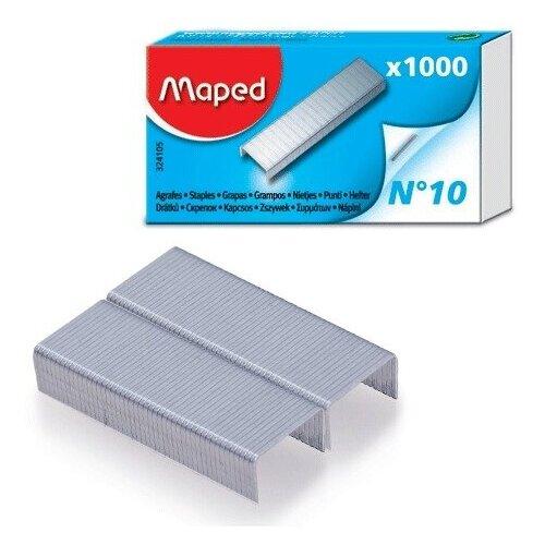 Скобы для степлеров Maped, №10, никелированные, 1000шт., 36 уп. (324105)