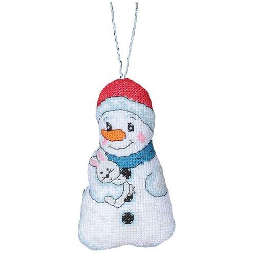 Купить Набор для вышивания крестиком PANNA Игрушка, Снеговик (IG-1431), Наборы для вышивания