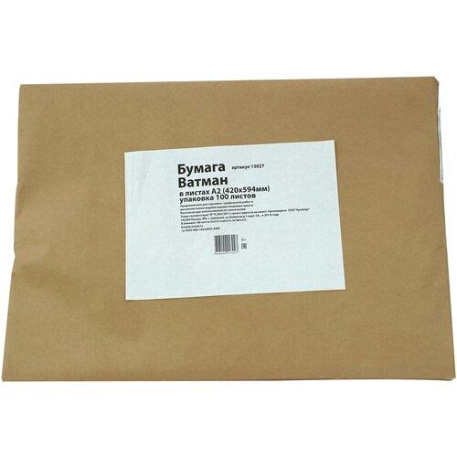 Бумага Ватман А2 420х594 200 гр. 100 листов упаковка крафт бумага