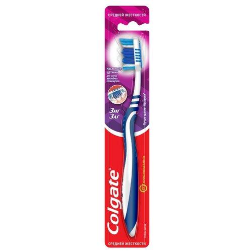 Зубная щетка Colgate Зиг Заг многофункциональная, средней жесткости, синий