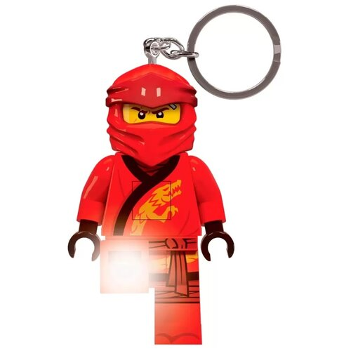 Брелок-фонарик LEGO Ninjago Kai LGL-KE149, красный брелок фонарик lego lgl ke65 красный