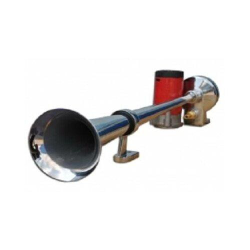 Сигнал звуковой воздушный ST-1019, 1-о рожковый,хромированный, с мотором, 12V (TORINO)