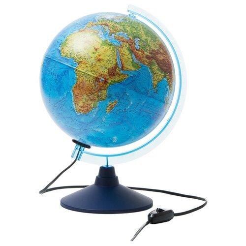 Купить Глобус физико-политический Globen, 25см, с подсветкой на круглой подставке, Глобусы