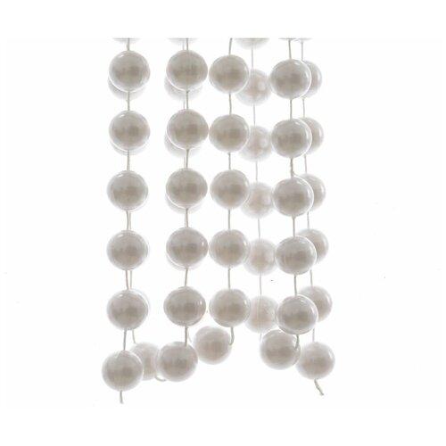 Бусы пластиковые гигант, цвет: белый, 20 мм, 2,7 м, Kaemingk 001713