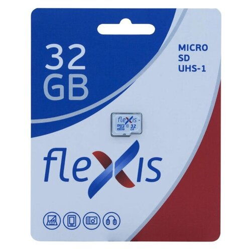 Фото - Карта памяти 32Gb - Flexis Micro Secure Digital HC Class 10 U1 FMSD032GU1 (Оригинальная!) карта памяти 8gb mirex micro secure digital hc class 10