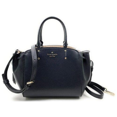 Женская кожаная сумка Kate Spade Black Tegan Medium Satchel Bag Crossbody женская кожаная сумка kate spade natalia leather crossbody cherry