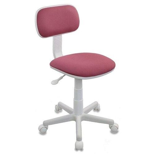 Компьютерное кресло Бюрократ CH-W201NX детское, обивка: текстиль, цвет: розовый 26-31 компьютерное кресло бюрократ ch 204nx детское детское обивка текстиль цвет синий карандаши