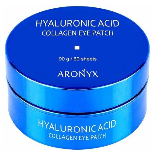 Aronyx Патчи для глаз гидрогелевые с коллагеном и гиалуроновой кислотой Hyaluronic Acid Collagen Eye Patch, 60 шт. aronyx патчи marine aqua energy eye patch гидрогелевые с морскими водорослями 60 шт
