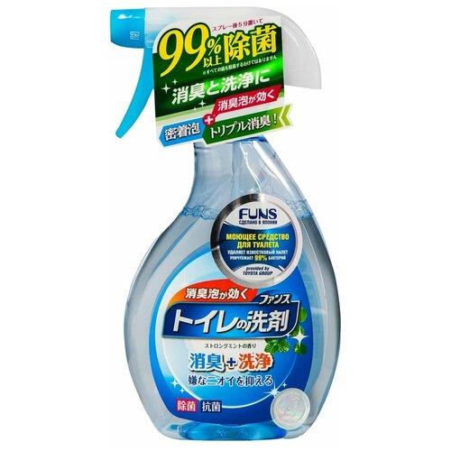 Фото - FUNS спрей для туалета с ароматом мяты, 0.38 л funs спрей для ванной комнаты с ароматом апельсина и мяты 0 38 л