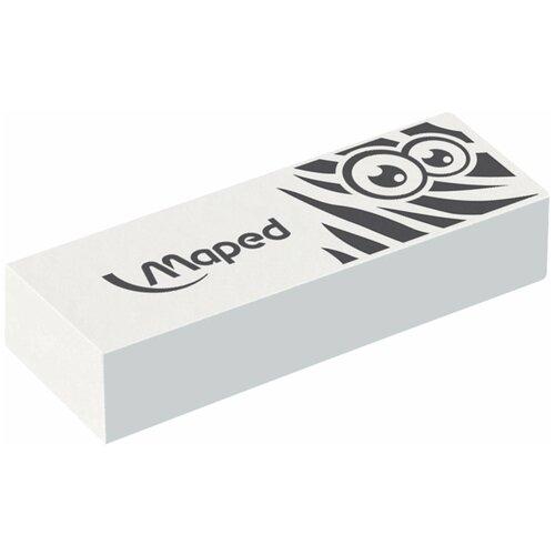 Фото - Ластик Maped большой Pulse Technic, 61*21*12 мм, белый, прямоугольный, синтетический каучук (116050) ластик прямоугольный синтетич каучук белый 39х19х10 мм index пакет