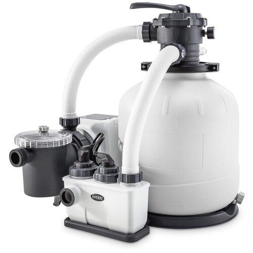 Песочный фильтр-насос с хлоргенератором (система морской воды) для бассейна 26676 INTEX песочный фильтр насос intex 26644 krystal clear 4 5м3 ч резервуар для песка 12кг