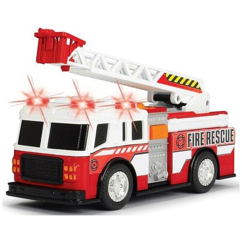 Фото - Пожарный автомобиль Dickie Toys 3302014, 15 см, белый/красный гидроцикл dickie toys пожарный сэм джуно с фигуркой и аксессуарами 9251662 красный желтый
