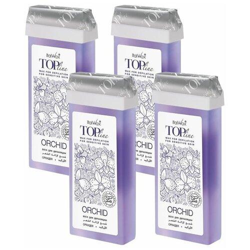 Купить Набор Воск ITALWAX Top Line в картридже Орхидея 100 мл. x 4 шт.