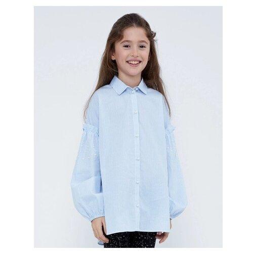 Фото - Рубашка Zarina размер 116, голубой рубашка fendi размер 116 кремовый