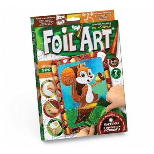 Аппликация цветной фольгой Foil Art (белка) danko toys аппликация цветной фольгой foil art заяц far 01 07