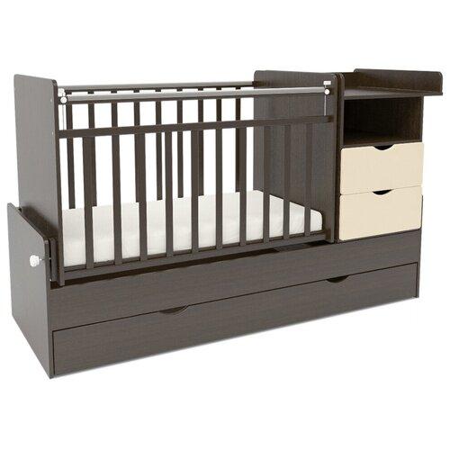 Купить Кроватка SWEET BABY Valentino (трансформер), поперечный маятник венге / слоновая кость, Кроватки