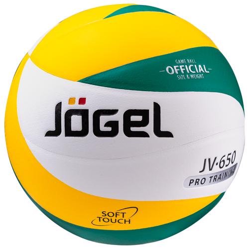 Волейбольный мяч Jogel JV-650 зеленый/желтый недорого