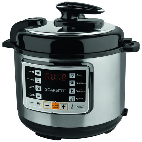 Скороварка/мультиварка Scarlett SC-MC410P02 серебристый/черный