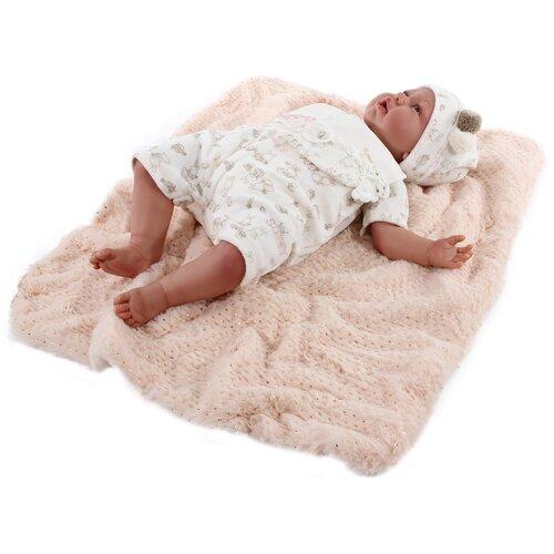 Кукла Antonio Juan Реборн Урсула в белом, 52 см, 8154W
