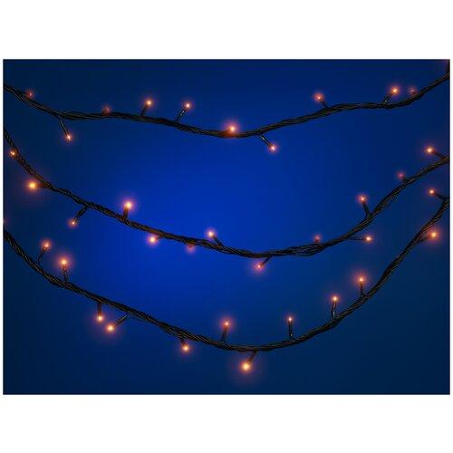 Электрогирлянда Snowmen новогодняя, наружная, гидроизоляция, 180 лампочек, 9,5 м + 10 м (Е50594)