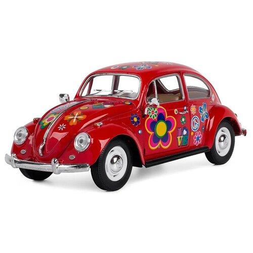 Купить Легковой автомобиль Serinity Toys Volkswagen Classical Beetle 1967 (7002DFKT) 1:24, 16 см, красный, Машинки и техника