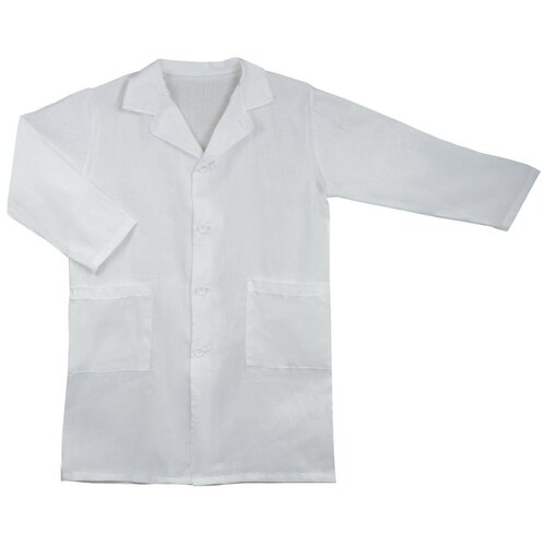 Топ-спин Халат школьный для уроков химии (VXT-2-2) белый