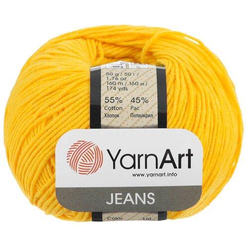 Купить Пряжа YarnArt 'Jeans' 50гр 160м (55% хлопок, 45% полиакрил) (35 желтый), 10 мотков