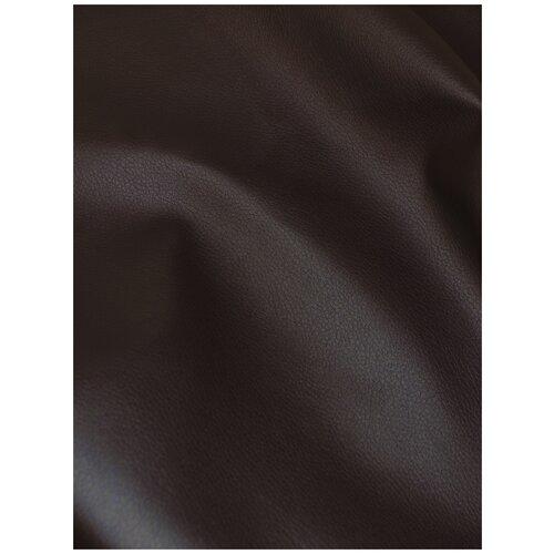 Экокожа автомобильная, искусственная кожа, гладкая - 1,4х10 м, цвет: темно-коричневый